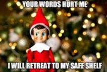 Elf Off His Shelf 2015 / For years I endured the over-achieving mommies posting their Elf on a Shelf photos on Facebook.  This year I decided to fight back.