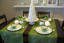 serving a festive table / сервировка праздничного стола / by Elena Kreknina