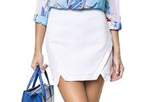 We love Skirts! / Além de super femininas, as saias são perfeitas para compor looks charmosos e apropriados para o verão! Caem bem para o dia e para a noite, mas uma produção mais casual assim como para um visual mais glamouroso!