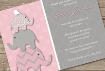 Pink & Gray Elephants