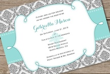 Teal Damask Baby / Bridal Shower