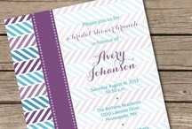 Teal & Purple Baby Shower / Party