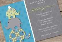 Teal & Lime Elephants