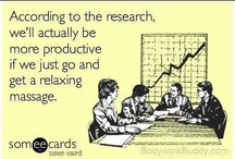Breaktime Massage Humor / A little funny goes a long way!  Laughter is a great de-stresser too!