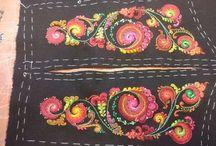 Rosesaum, Tinnbunad, embroidery