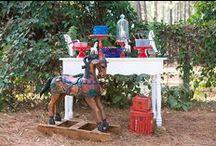Festa cavalinho de balanço