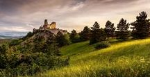 Cachtice castle ( Bathory ) / Some shoots form amazing medieval castle over Cachtice in Slovakia known for her Bathory owner - bloody lady
