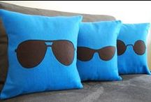 Visions of Sugar Plums / You're sure to have sweet dreams with these eyes looking after you! Eye and Vision Themed Pillows and Bedding galore!