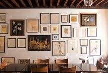 [RE] frame / Displaying the art and photographs you love personalize your space and truly make a house, your home. Be inspired by this board of gallery walls.