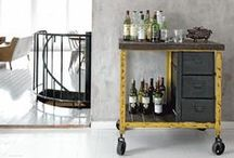 [RE] freshment / Bar carts, trays, and armoires and the drinks that inspire them!