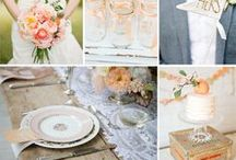 Wedding Inspiration / Wedding Inspiration and ideas for my own wedding in 2015- colours - champagne pink, peach and dove grey.  bouquets, boutonnieres...