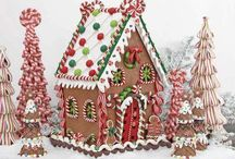 Gingerbread houses / From your simple gingerbread house to something beyond that, these gingerbread houses are perfect for a Christmas decoration and table centre piece.