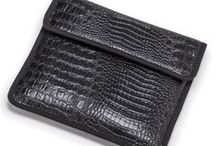 Faux Leather on Handbags and Clothing / Handbags and clothing made with faux leather fabrics from The Mitchell Group.
