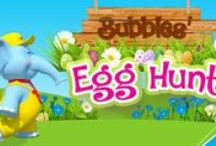Bubbles Egg Hunt / Looking for fun ways to celebrate spring with your little one? Check out these fun thought starters.