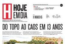 Capas do Jornal [2016] / Capas do Jornal Hoje em Dia desde o começo do ano de 2016