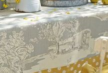 ticking, toile, and burlap