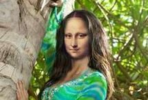 """MONA LISA-Variations on a Theme / Variations of the masterpiece """"Mona Lisa"""" / by Beverly Myers"""