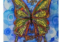 Butterfly Art Gallery Gifts of Paintings and Drawing / Art paintings featuring the art of butterflies with inspirational words or poems. Images include great butterfly themed gifts or merchandise art featured on a variety of items like jewelry, shirts, cards, mugs, apparel, and more!