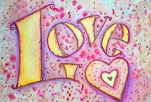 """Love Inspirational Word Art and Images / Dedicated to the word """"love"""" and its many representations in art images including painting, drawings, and photos.  Love Word Artwork gifts and merchandise are included too!"""