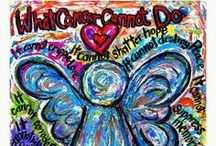 """What Cancer Cannot Do Poem Art Gallery Gift Ideas / Art featuring the inspirational poem """"What Cancer Cannot Do"""" on a variety of paintings from angels to hearts.  Inspirational cancer art art is featured on a variety of items like jewelry, shirts, cards, mugs, apparel, and more!"""