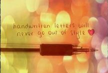 Handwritten Letters / For those who like to hold a favorite pen in hand, pour words onto pretty stationery and put stamps on envelopes.