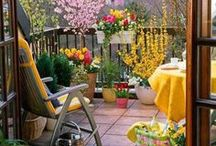 ✿ small Balconies and Verandas ✿ / Ideas for small balconies and verandas