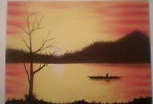 Minhas obras de arte / Alguns quadros pintados por mim.