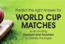 World Cup 2015 Contest / Participate in World cup Cricket Contest and Get a chance to Win Travel Vouchers for Dream Holiday. Cheapairetickets.in Brings new contest for their Fans!!! http://bit.ly/1zzT2jm