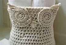 Koše háčkované, pletené i šité