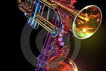 Bold Brass and Jazz / I saw Maynard Ferguson in 6th grade at  a school in Md. I starting playing trumpet in 5th grade and seeing him perform live was truly a life changing experience. I love brass,jazz and drum corp fiercely! It rocks my soul! / by Nancy Casdorph