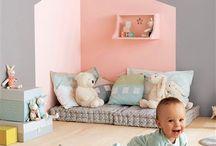 Play corner / Play baby toddler kids interior room