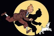 Tintin & Snowy Milou / Tintin (French pronunciation: ​[tɛ̃tɛ̃]) is a fictional character in The Adventures of Tintin, the comics series by Belgian cartoonist Hergé. Tintin is the eponymous protagonist of the series; a reporter and adventurer who travels around the world with his dog Snowy. The character was created in 1929 and introduced in Le Petit Vingtième, a weekly youth supplement to the Belgian newspaper Le Vingtième Siècle.