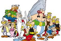 Asterix & Obelix & Idefix / Asterix or The Adventures of Asterix (French: Astérix or Astérix le Gaulois, IPA: [asteʁiks lə ɡolwa]) is a series of French comics. The series first appeared in the Franco-Belgian comics magazine Pilote on 29 October 1959. It was written by René Goscinny and illustrated by Albert Uderzo until the death of Goscinny in 1977. Uderzo then took over the writing until 2009, when he sold the rights to publishing company Hachette. As of 2013, 35 volumes have been released.