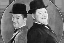 Laurel  and Hardy / Laurel and Hardy were a comedy double act during the early Classical Hollywood era of American cinema. The team was composed of thin Englishman, Stan Laurel (1890–1965) and heavyset American, Oliver Hardy (1892–1957). They became well known during the late 1920s through the mid-1940s for their slapstick comedy with Laurel playing the clumsy and childlike friend of the pompous Hardy.