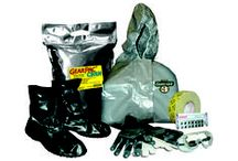 Personal Protective Equipment (PPE) / PPE Suits, Chemical Tape, CBRN Gloves and Overboots, Gear Pacs