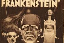 Frankenstein and Bride / Bride of Frankenstein (advertised as The Bride of Frankenstein) is a 1935 American horror film, the first sequel to Universal Pictures' 1931 hit Frankenstein. As with the first film, Bride of Frankenstein was directed by James Whale and stars Boris Karloff as The Monster.   The film follows on immediately from the events of the earlier film, and is rooted in a subplot of the original Mary Shelley novel, Frankenstein (1818).