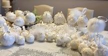 Christmas Ornaments / Lace, Ribbons, Pearls and Beads