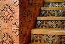 Ceilings, Walls  & stairs / by irma