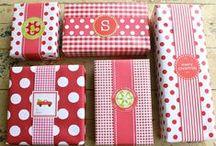 christmas gift wrappings/tags