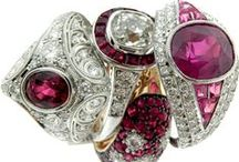 Rubies in July / Selection of fine jewelry found at ABQ Gold and Silver Exchange in Albuquerque, NM.