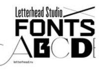 Letterhead Studio Fonts / Fonts by Letterhead Studio. Шрифты, разработанны студией Леттерхэд.