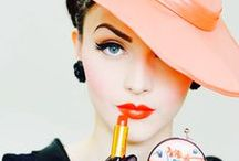 Art Deco Vanity / Vintage make up, lipsticks, face powder and rouge with powder puffs and perfume, everything girly! / by ~  Deco World  ~