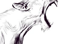 Lion siluets graphic tatoo ..