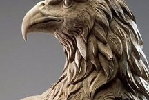 Woodcarving birds