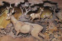 woodcarving roe deer
