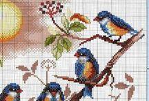 CrossStitch  BIRDS, Butterflies
