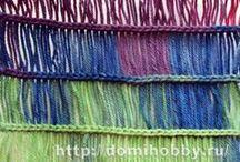 Crochet stitch using a ruler