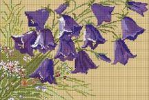 CrossStitch Campanula, Bell Flowers