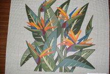 CrossStitch Bird of Paradise Flowers