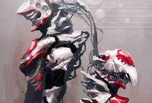 Art: Mecha / Cyborgs, robots and androids